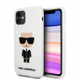 COQUE SILICONE BLANCHE AVEC KARL AU DOS POURE APPLE IPHONE 11 - KARL®