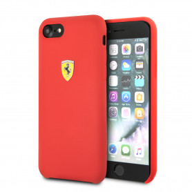 COQUE SILICONE ROUGE COMPATIBLE APPLE IPHONE 7 / 8 / SE 2020 - FERRARI®