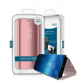 ETUI VIEW STAND ROSE POUR HUAWEI P SMART 2020 - JAYM®