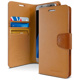 ETUI FOLIO STAND SONATA DIARY COMPATIBLE APPLE IPHONE 12 / 12 PRO (6.1) MARRON