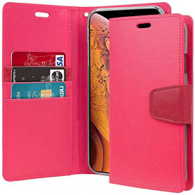 ETUI FOLIO STAND SONATA DIARY COMPATIBLE APPLE IPHONE 12 PRO MAX (6.7) ROSE