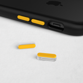 KIT DE BOUTONS JAUNES ADAPTABLES SUR MOD NX™ ET SOLIDSUIT™ POUR APPLE IPHONE - RHINOSHIELD™