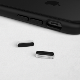 KIT DE BOUTONS NOIRS ADAPTABLES SUR MOD NX™ ET SOLIDSUIT™ POUR APPLE IPHONE - RHINOSHIELD™