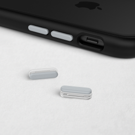 KIT DE BOUTONS ARGENTS ADAPTABLES SUR MOD NX™ ET SOLIDSUIT™ POUR APPLE IPHONE - RHINOSHIELD™