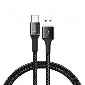 CABLE TRESSÉ USB VERS TYPE-C AVEC DIODES 2M NOIR - BASEUS