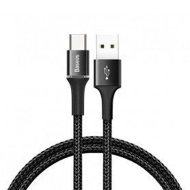 CABLE TRESSÉ USB VERS TYPE-C AVEC DIODES 3M NOIR - BASEUS