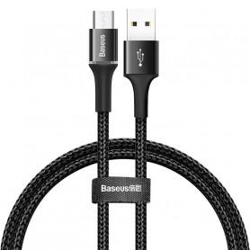 CABLE TRESSÉ USB VERS MICRO-USB AVEC DIODES NOIR 1M - BASEUS