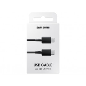 CABLE CHARGE ET SYNCHRO USB-C VERS TYPE-C 1M NOIR ORIGINE SAMSUNG