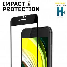 PROTECTION SOUPLE ECRAN ANTI-CHOCS 3D IMPACT™ FRAME NOIRE POUR APPLE IPHONE 6 / 6S / 7 / 8 / SE 2020 - RHINOSHIELD™