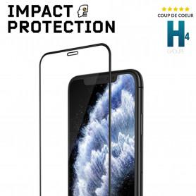 PROTECTION SOUPLE ECRAN ANTI-CHOCS 3D IMPACT™ FRAME NOIRE POUR APPLE IPHONE XR / 11 - RHINOSHIELD™