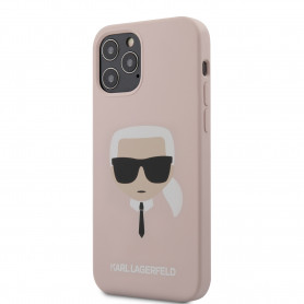 COQUE SILICONE ROSE MOTIF AVATAR KARL POUR APPLE IPHONE 12 PRO MAX (6.7) - KARL®