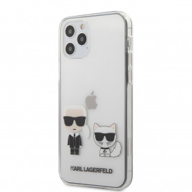 COQUE BI-MATIERE TRANSPARENTE MOTIF AVATAR KARL ET CHOUPETTE POUR APPLE IPHONE 12 PRO MAX (6.7) - KARL®
