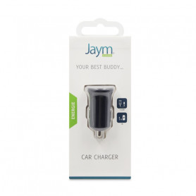 CHARGEUR VOITURE 1 USB 1A NOIR JAYM**