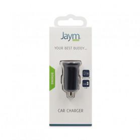 CHARGEUR VOITURE 2 USB 2,4A NOIR JAYM
