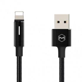 CABLE USB VERS LIGHTNING 1,2M 2A NOIR