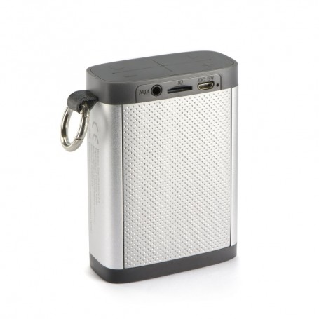MINI ENCEINTE SANS FIL 3W RECTANGLE NOIR-METAL