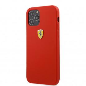 COQUE SILICONE ROUGE POUR APPLE IPHONE 12 PRO MAX (6.7) - FERRARI®