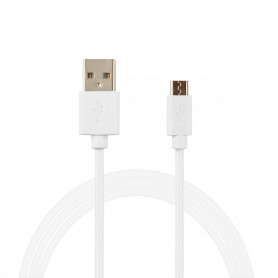 CABLE USB CHARGE ET SYNCHRO USB VERS MICRO-USB BLANC BULK