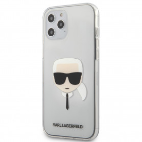 COQUE BI-MATIERE TRANSPARENTE MOTIF AVATAR KARL POUR APPLE IPHONE 12 PRO MAX (6.7) - KARL®