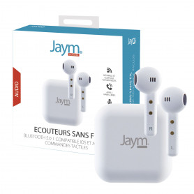 ECOUTEURS TRUE WIRELESS PREMIUM BLUETOOTH 5.0 BLANCS - JAYM®