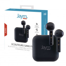 ECOUTEURS TRUE WIRELESS PREMIUM BLUETOOTH 5.0 NOIRS - JAYM®