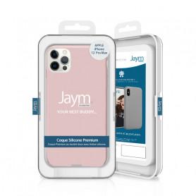 COQUE PREMIUM SILICONE ET MICROFIBRE POUR APPLE IPHONE 12 PRO MAX (6.7) ROSE SABLE - JAYM® CLASSIC®
