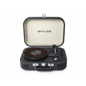 TOURNE-DISQUES VINYLES + FONCTION STEREO BLUETOOTH 2 x 5W GRIS - MUSE