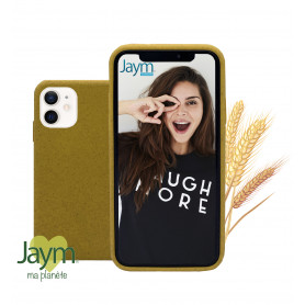 COQUE ECO-FRIENDLY JAUNE POUR APPLE IPHONE 12 MINI (5.4) - JAYM®