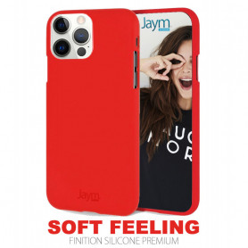 COQUE PREMIUM SOFT FEELING COMPATIBLE APPLE IPHONE 12 PRO MAX (6.7) ROUGE