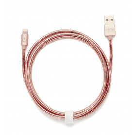 CABLE LIGHTNING 1,2M METAL OR ROSE MOB
