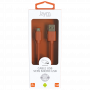 CABLE USB VERS MICRO-USB 1.5M 2.4A ORANGE - JAYM® COLLECTION POP