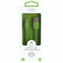 CABLE USB VERS LIGHTNING 1.5M 2.4A VERT - JAYM® COLLECTION POP