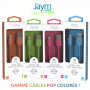 CABLE USB VERS LIGHTNING 1.5M 2.4A BLEU - JAYM® COLLECTION POP