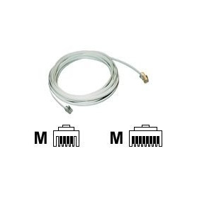CABLE TELEPHONE VERS BOX RJ11 / RJ45 2M BLANC - MCL