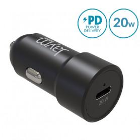 CHARGEUR VOITURE RAPIDE USB-C 20W PD 12/24V NOIR - JAYM®