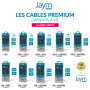 CABLE RENFORCÉ DUPONT™ KEVLAR® POWER DELIVERY USB-C VERS LIGHTNING 1,5M - GARANTIE A VIE - JAYM®