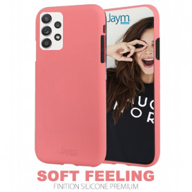 COQUE PREMIUM SOFT FEELING COMPATIBLE SAMSUNG GALAXY A52 4G / 5G ROSE