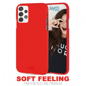 COQUE PREMIUM SOFT FEELING COMPATIBLE SAMSUNG GALAXY A52 4G / 5G ROUGE