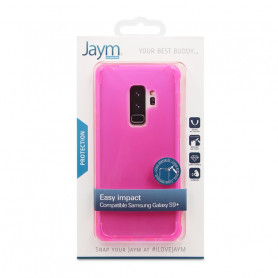 COQUE RENFORCEE TRANSPARENTE ROSE JAYM COMPATIBLE SAMSUNG GALAXY S9+