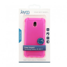 COQUE RENFORCEE TRANSPARENTE ROSE JAYM COMPATIBLE SAMSUNG GALAXY J5 2017