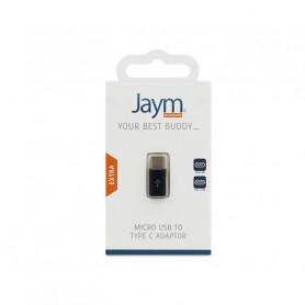 ADAPTATEUR MICRO USB VERS TYPE C NOIR JAYM