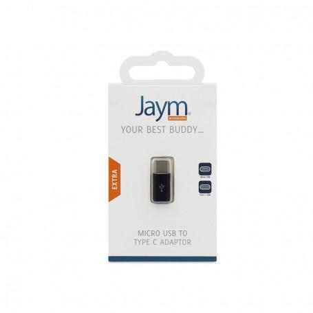 adaptateur micro usb vers type c noir jaym. Black Bedroom Furniture Sets. Home Design Ideas