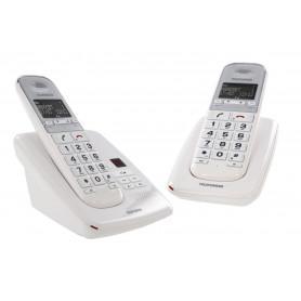 DECT TELEFUNKEN TD 352 PILLOW DUO 2 POSTES BLANCS + REPONDEUR