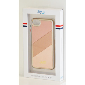 COQUE PREMIUM MADE IN FRANCE COMPATIBLE APPLE IPHONE X / XS JAYM - GOLD FULL ROSE**