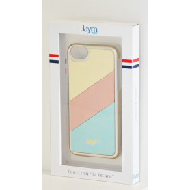 COQUE PREMIUM MADE IN FRANCE COMPATIBLE APPLE IPHONE X / XS JAYM - GOLD ECRU ROSE