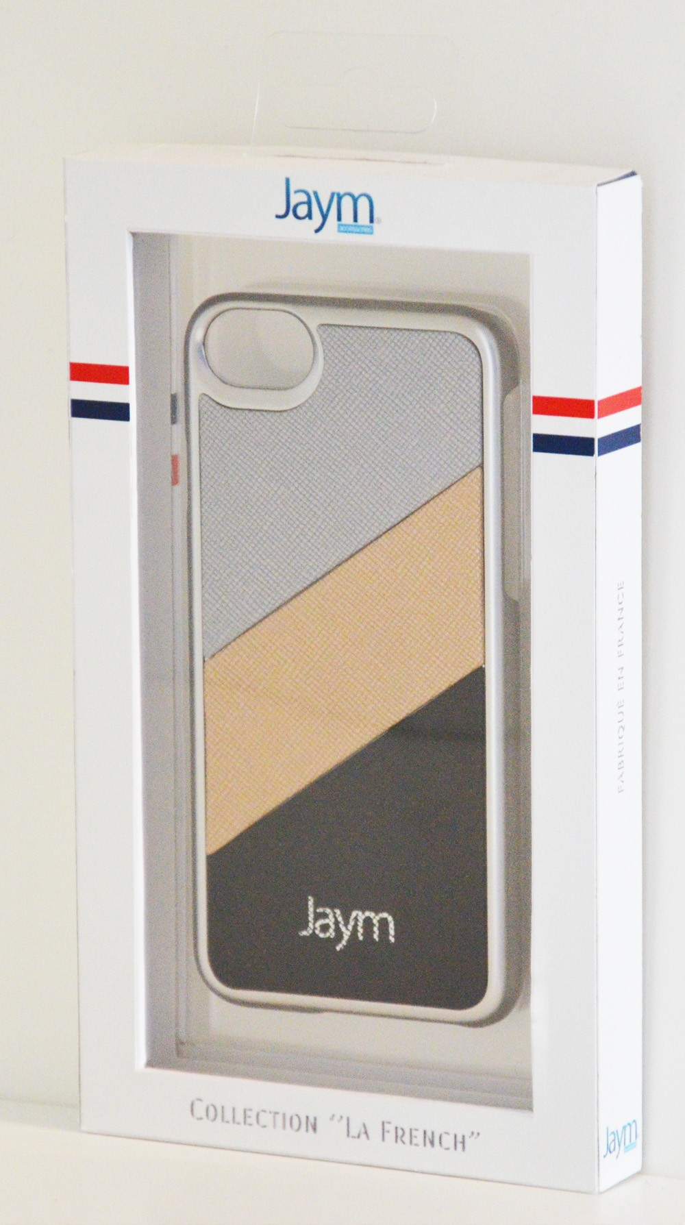 COQUE PREMIUM MADE IN FRANCE COMPATIBLE APPLE IPHONE X / XS JAYM - SILVER ARGENT METAL