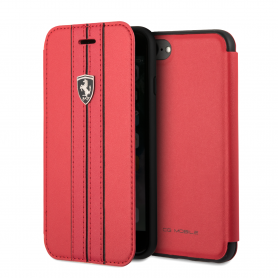ETUI FOLIO COMPATIBLE APPLE IPHONE X / XS ROUGE - FERRARI **