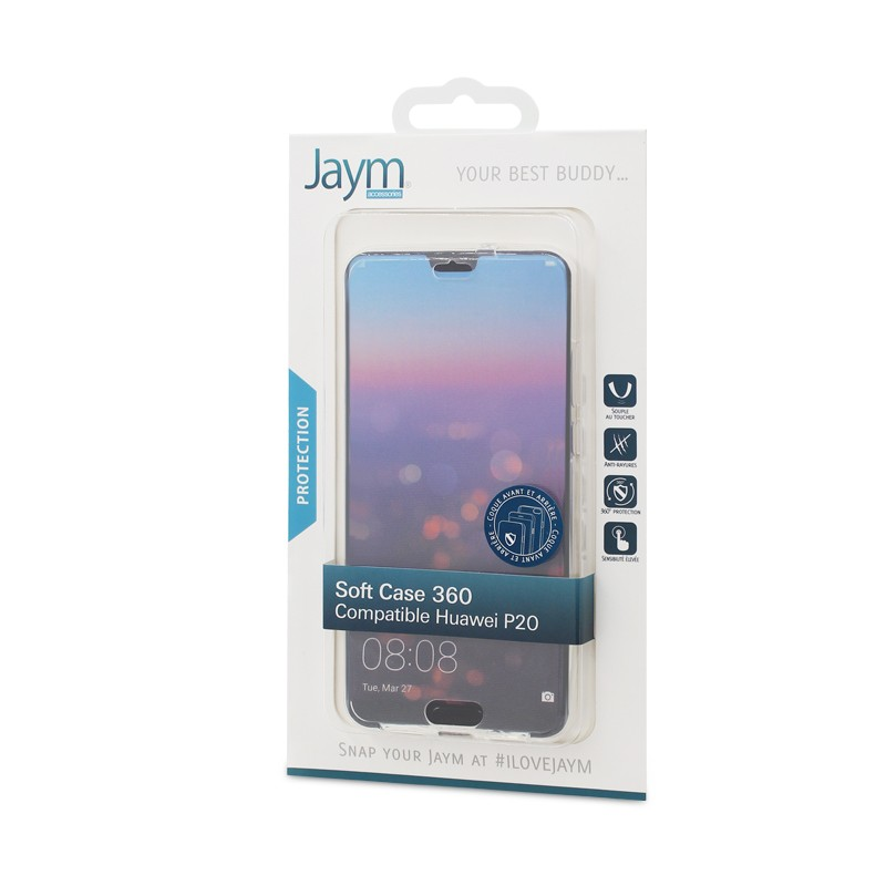 COQUE SOUPLE 360 JAYM COMPATIBLE HUAWEI P20