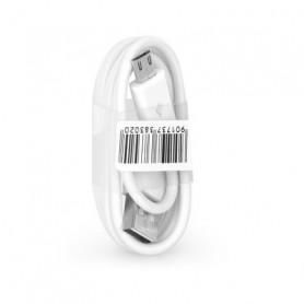 CABLE USB VERS MICRO-USB 1M BLANC BULK
