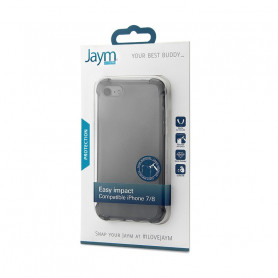 COQUE RENFORCEE TRANSPARENTE GRISE JAYM COMPATIBLE APPLE IPHONE 7 / 8